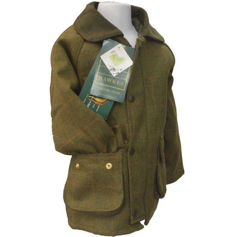 a206bbd39 Walker & Hawkes Children's Light Sage Shooting Tweed Country Coat-Equestrian  Co.