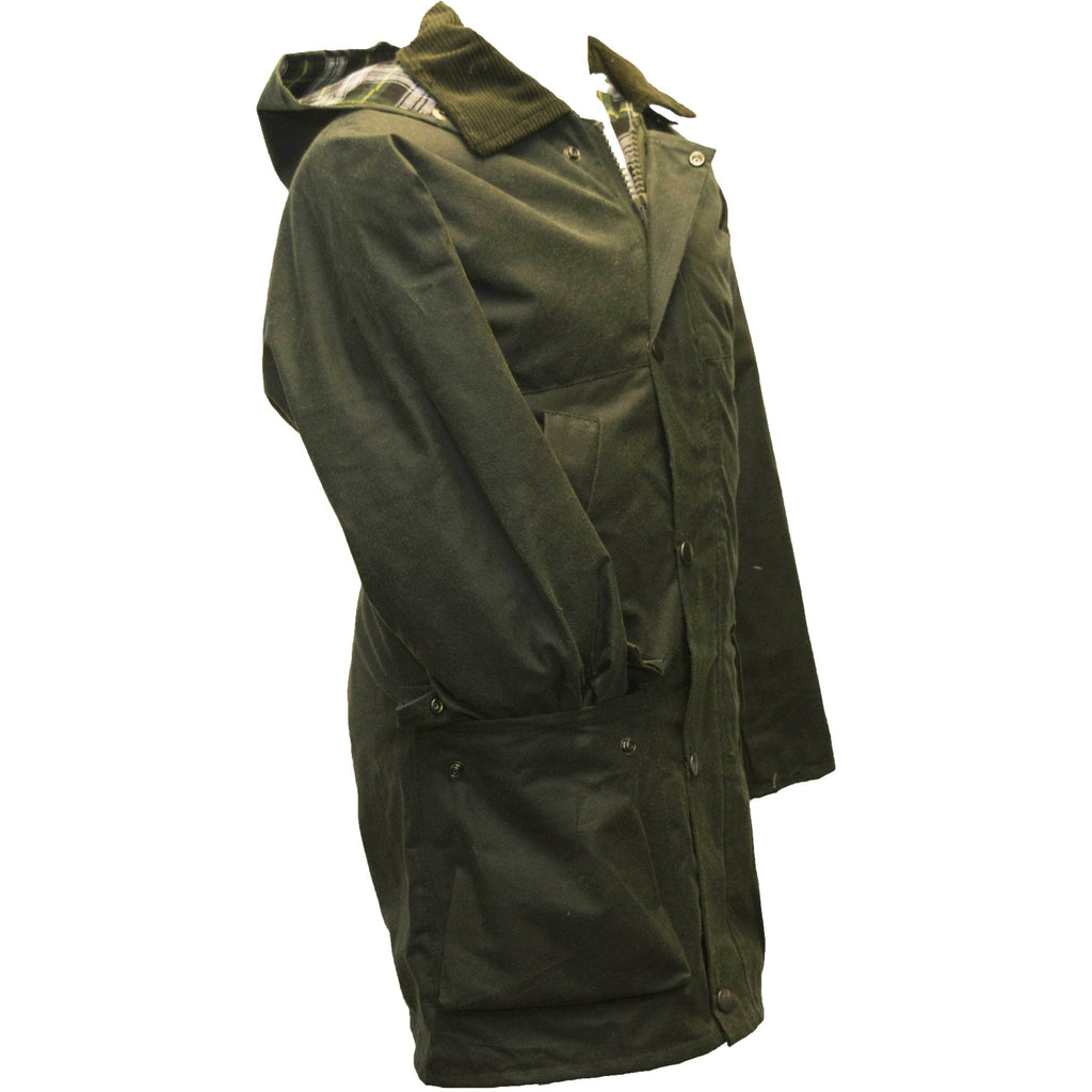 Walker & Hawkes Children's Olive Green Padded Wax Jacket / Coat-Equestrian Co.