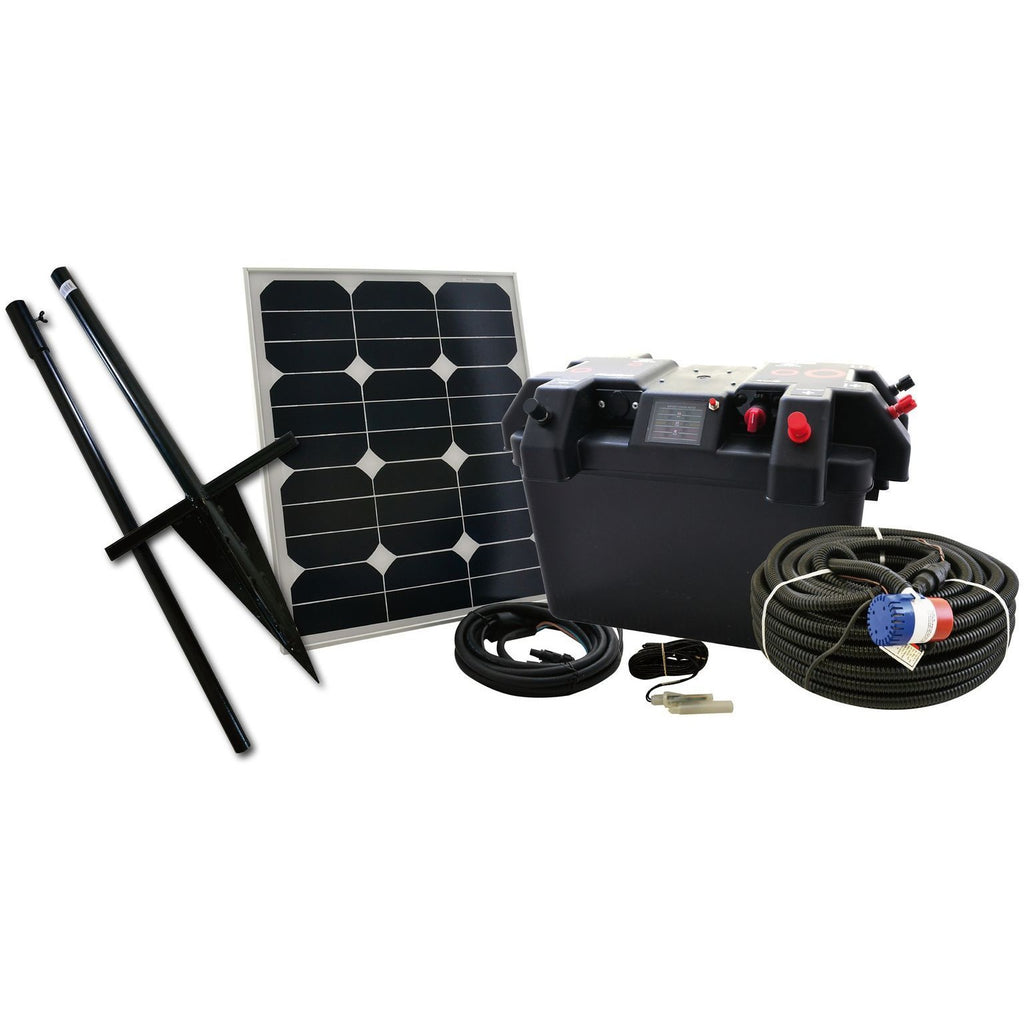 Hotline Battery & Solar Powered Water Pump Kit-Equestrian Co.