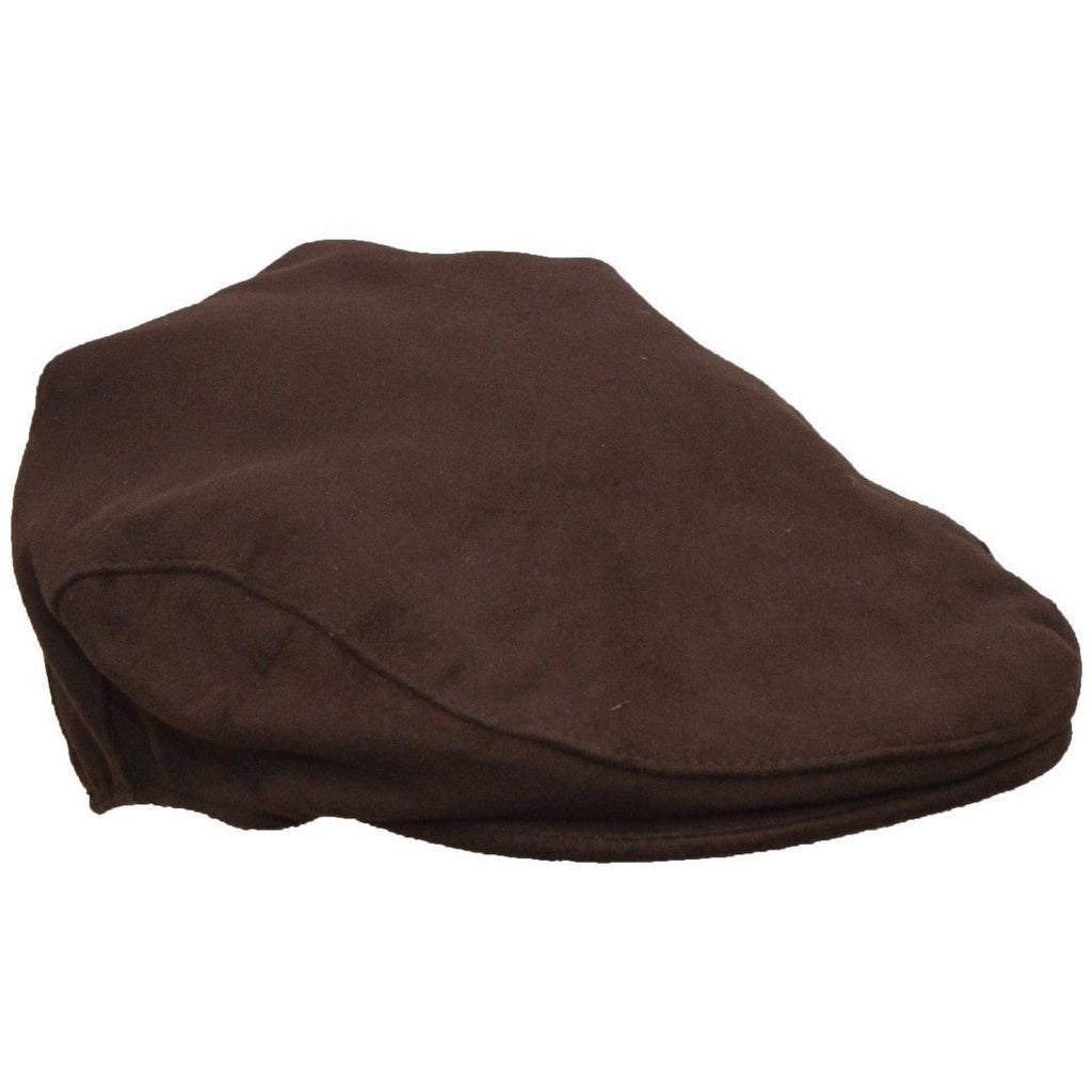 Walker & Hawkes Unisex Moleskin Country Brown Flat Cap / Hat-Equestrian Co.