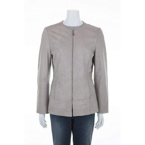 Woodland Leathers Ladies' Classic Leather Collarless Jacket - Equestrian Co. - 2