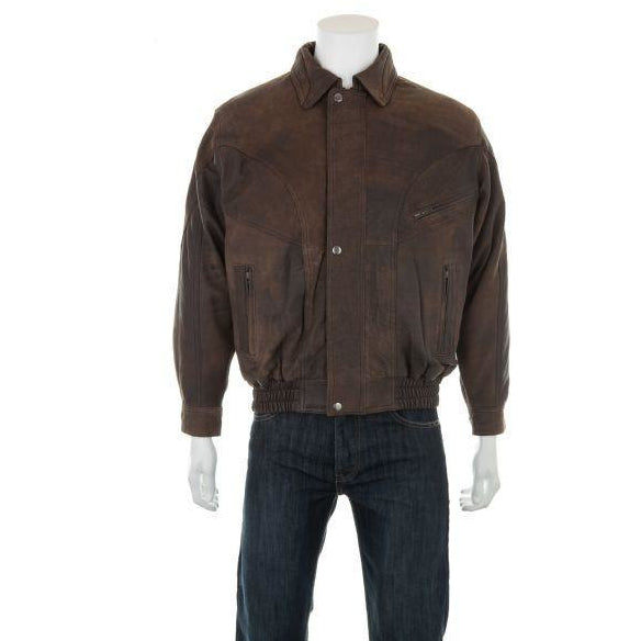 Woodland Leathers Men's Antique Look Bomber Jacket - Equestrian Co. - 2