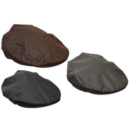 Walker & Hawkes Unisex Waterproof Wax Flat Cap