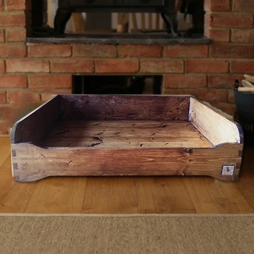 Hunt & Wilson Luxury Handmade Rustic Wooden Dog Bed-Equestrian Co.