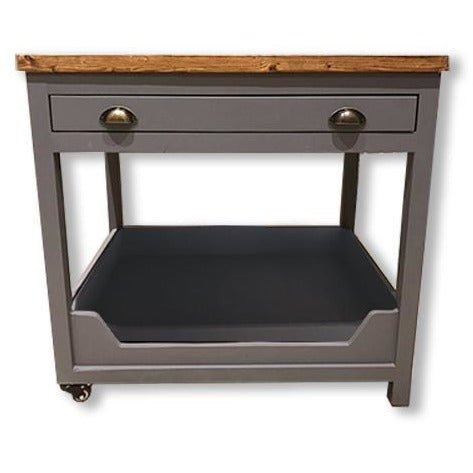 Luxurious Handmade Wooden Kitchen Unit Dog Bed-Equestrian Co.