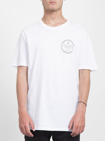 CHOP AROUND T-SHIRT HVID