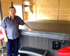 Hot Tub Installation for Mr and Mrs Klein Hull