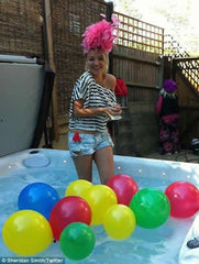 Sheridan Smith enjoying her Hot Tub