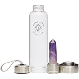 Amethyst Crystal Elixir - Glass Water Bottle 550ml