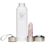 Rose Quartz Crystal Elixir - Glass Water Bottle 550ml