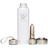 Smoky Quartz Crystal Elixir - Glass Water Bottle 550ml