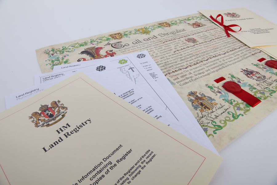 Land Registry papers with Lord Title