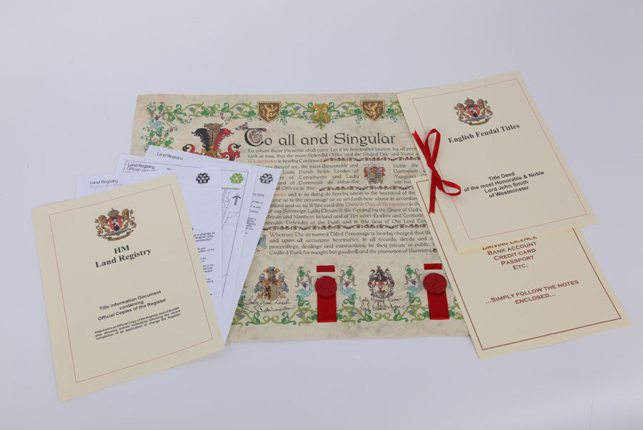 English Seated Title documents