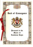 Lord of the Manor Deed of Conveyance