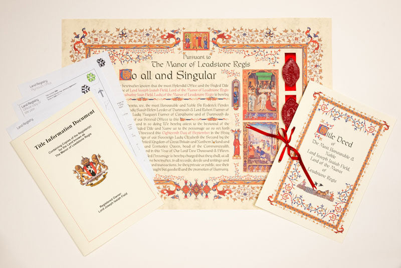 Lord of the Manor Deeds and documents
