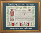 Dartmouth  England Seated Title certificate