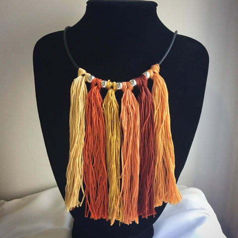 Tassel bib necklace