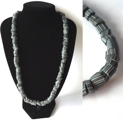 Charcoal edgy necklace
