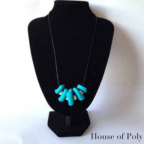 Ashley aqua necklace