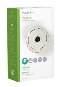 Nedis IP Security Camera | 1280x960 | Panorama | White / Black