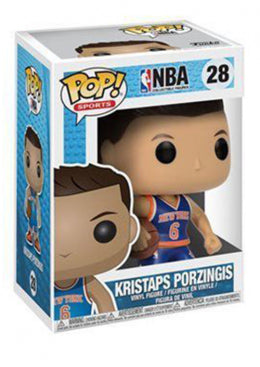 NBA POP! Kristaps Porzingis Blue 10cm