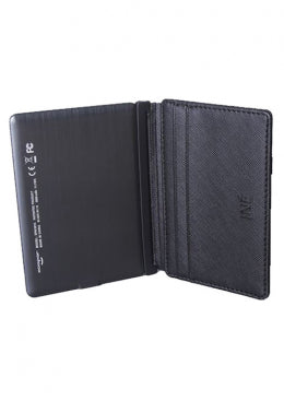 INE - Wallet & Charger - Vegan Leather Black