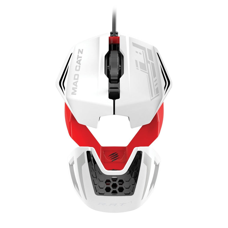 Mad Catz R.A.T.1 Wired Gaming Mouse - White/Red