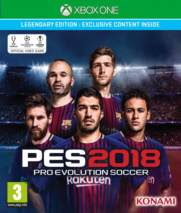 XBOXONE Pro Evolution Soccer PES 2018 Legendary Edition