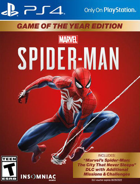 PS4 Marvel's Spider-Man - Game of the year
