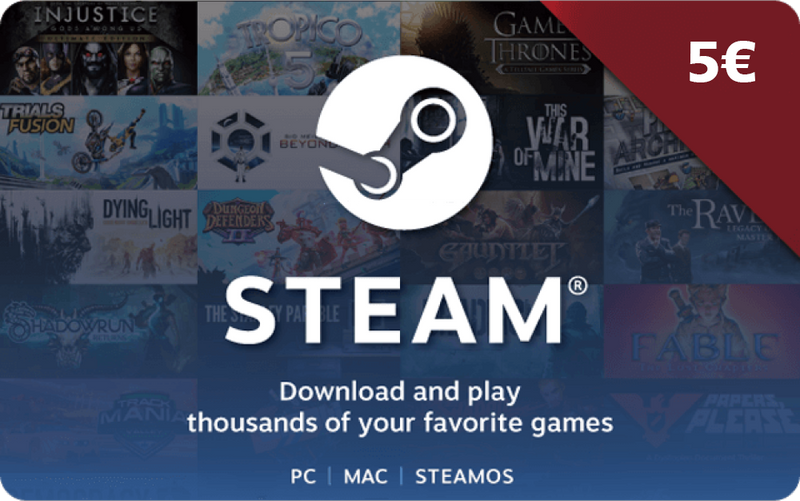 Steam Gift Card 5 EUR CD-KEY