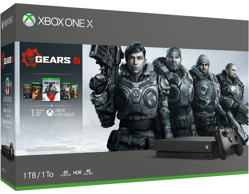 Xbox One X 1TB Console Black Gears 5 Bundle