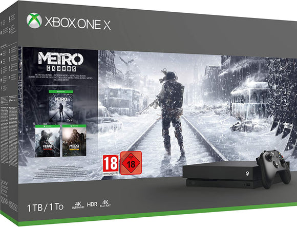 Xbox One X 1TB Console Black Metro Bundle