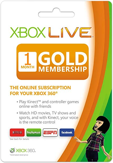 Xbox Live 1 Month GOLD Subscription