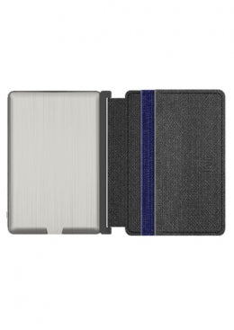 INE - Wallet & Charger - Vegan Leather Gray