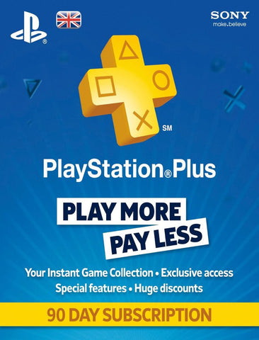 Playstation Plus 90 Day Subscription UK