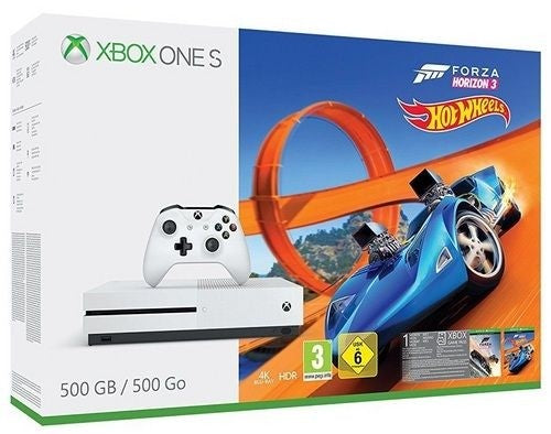 XBOXONE Console 500GB S White + Forza Horizon 3 + Hot Wheels DLC
