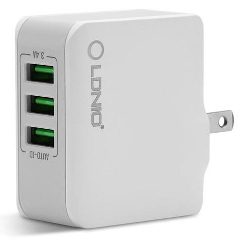 LDNIO USB Charger 3 Ports 5V/3,4A 17W White