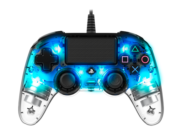 Nacon PS4 Wired Illuminated Compact Controller Blue
