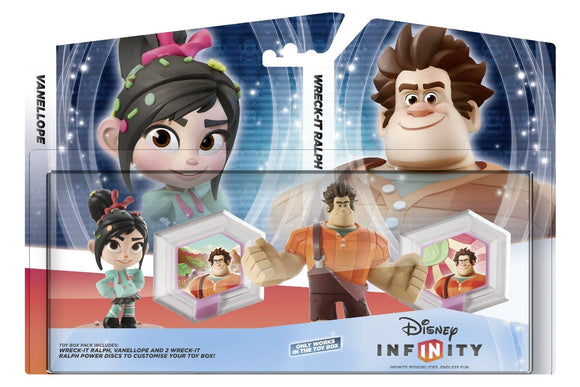 Infinity Toybox Set Wreck It Ralph (Ralph + Vanellope + 2 WiR Power Discs)