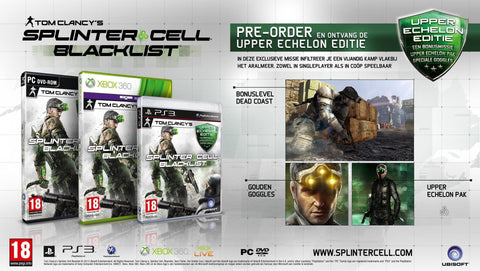 PS3 Splinter Cell: Blacklist Upper Echelon Edition
