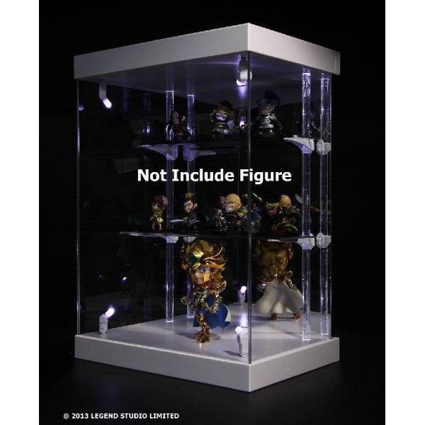 Master Light House Acrylic Display Case with Lighting for Mini Figures (white)