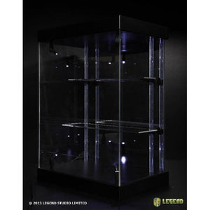 Master Light House Acrylic Display Case with Lighting for Mini Figures (black)