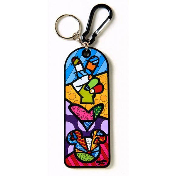 Peace & Love Mickey Mouse Keychain