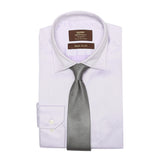 Necktie 100% Silk Regular Grey Jacquard