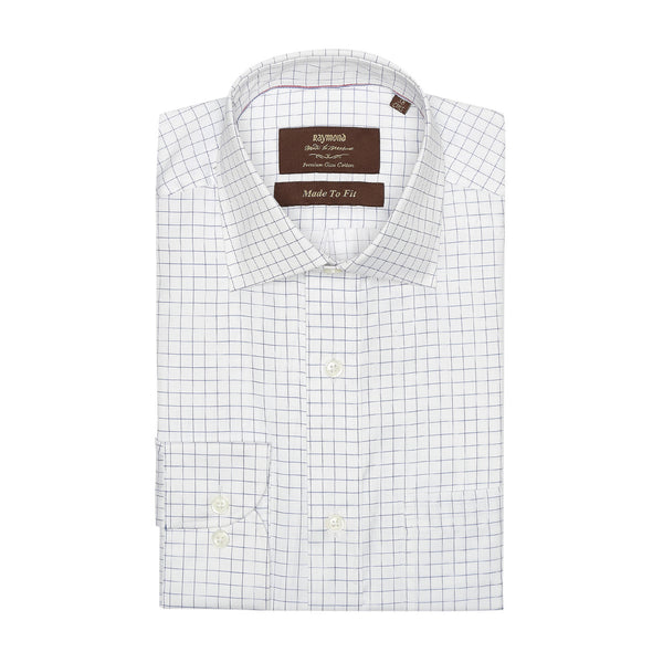 MTF Cotton Blue Checks Shirt