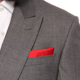 Pocket Square 100% Silk Maroon Solid