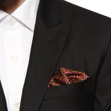Pocket Square 100% Silk Magenta Printed