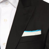 Pocket Square 100% Silk White Solid