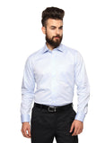 MTF Cotton Blue Solid Shirt