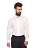 MTF Linen Full White Shirt